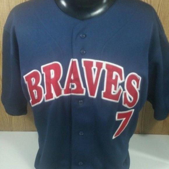 official photos 6c61a d1604 Retro MLB Atlanta Braves Francoeur Baseball Jersey